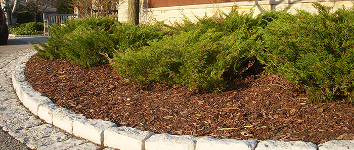 Landscaping Bark Suppliers : Garden bark mulch supplies grab hire tipper